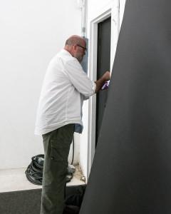 Dan Winters constructing a camera obscura.