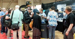 The line forms at the Rocky Nook booth