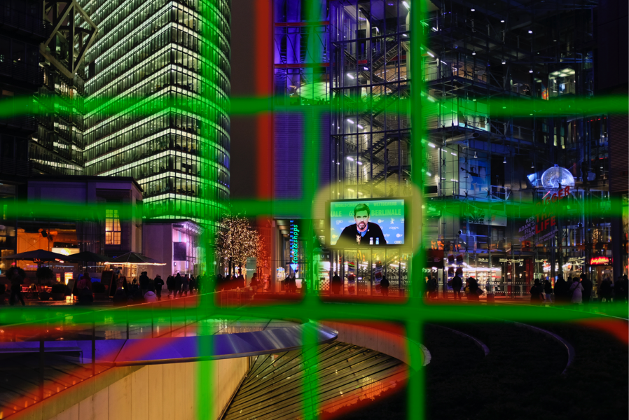 Exposure details for urban architecture, Sony Center, Berlin